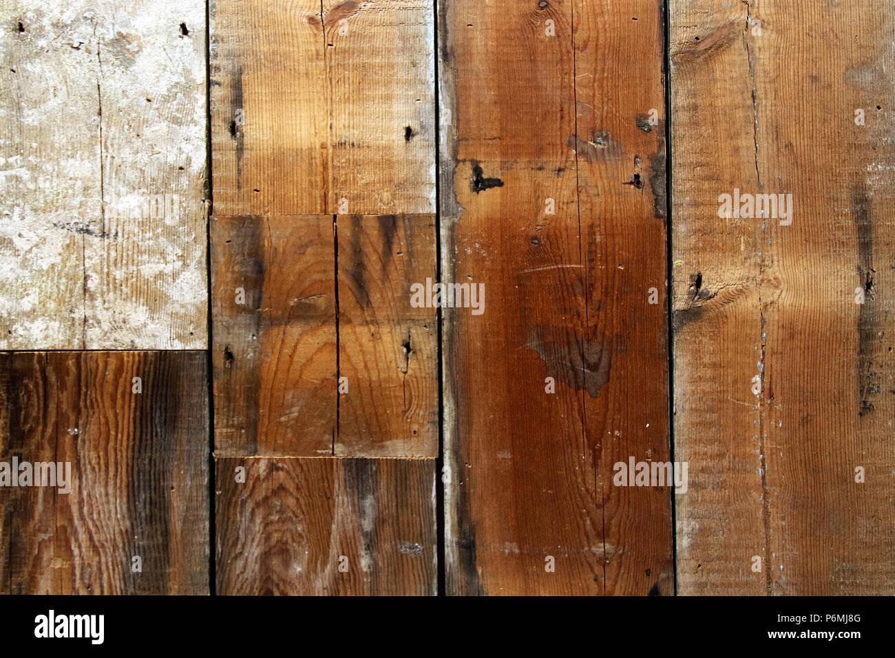 Satte Farben In Einer Holzmaserung Hintergrund Von Holzbohlen Aus