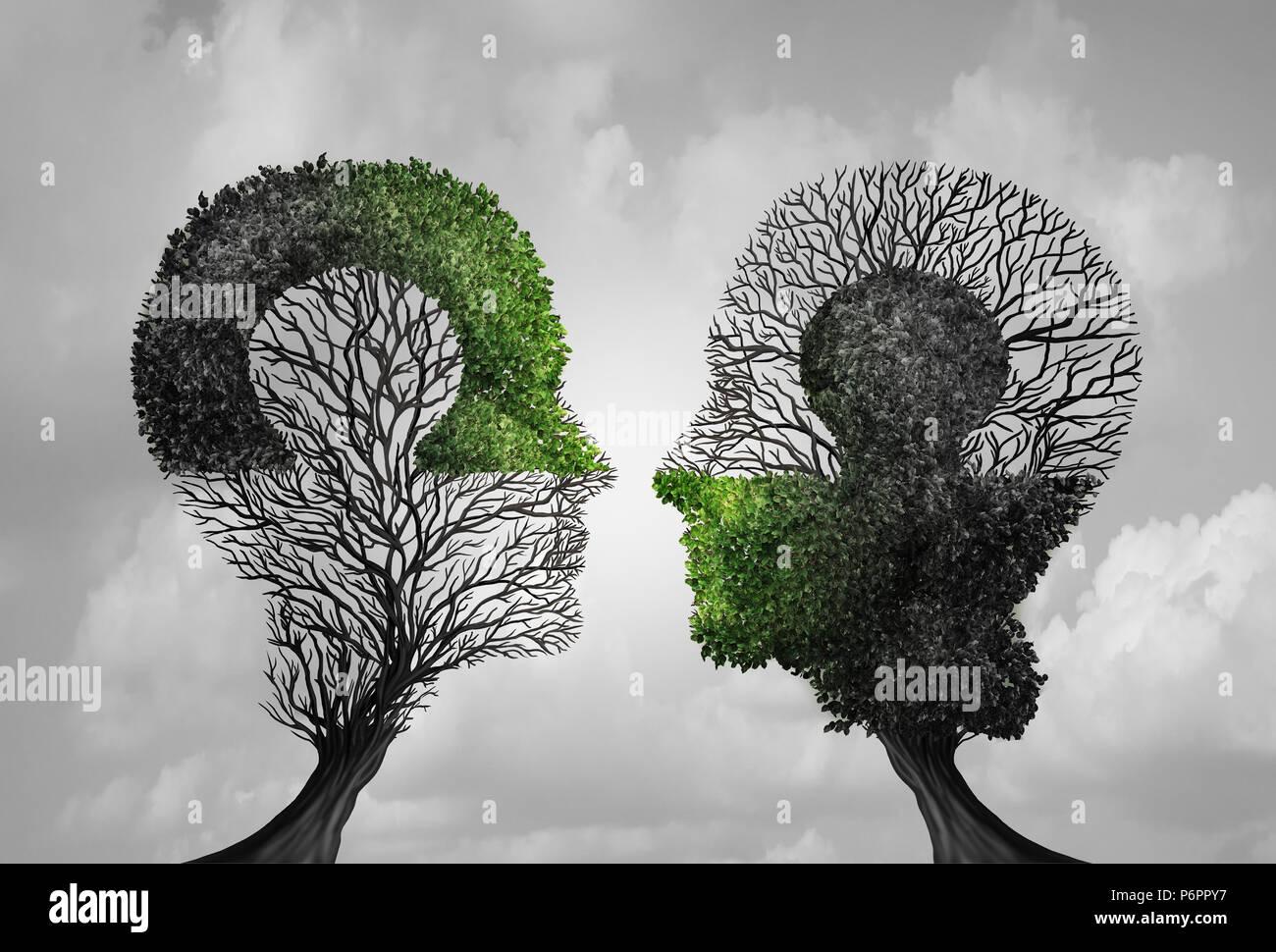 Psychologie und Psychiatrie Idee als Symbol für Psychologe Therapie und konstruktives Denken puzzle Treffen in einer 3D-Darstellung. Stockbild