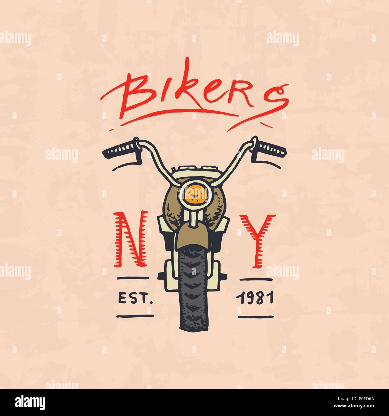 Motorräder und Biker club Vorlage. Vintage Emblem, label Abzeichen ...