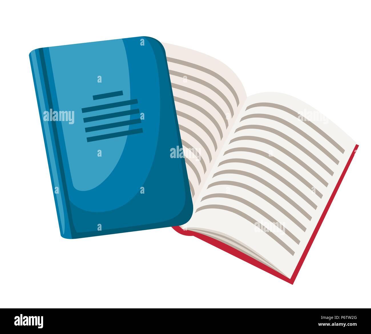 Geschlossen Und Geoffnet Notebooks Cartoon Buro Symbol Flache