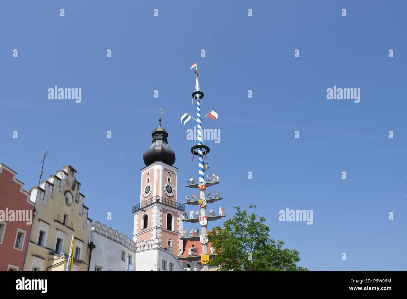 Cham in der Oberpfalz Bayern Stockbild