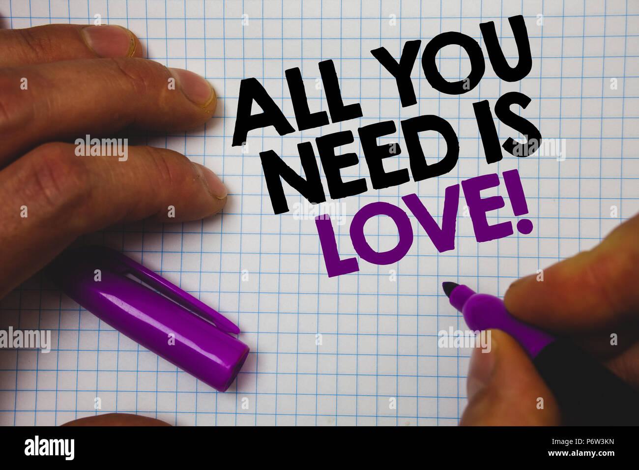 Ich brauche liebe und zuneigung