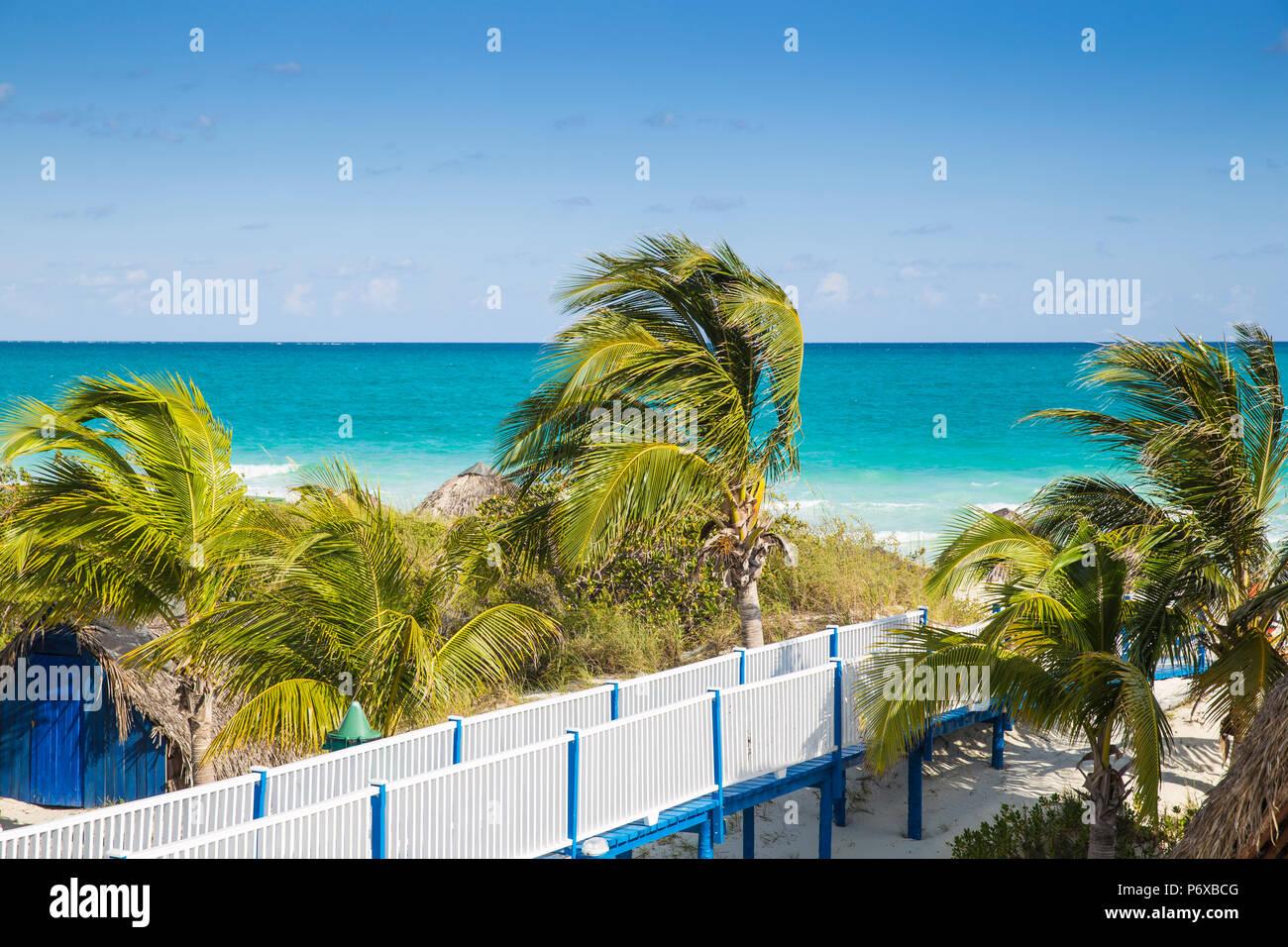 Kuba, Jardines del Rey, Cayo Guillermo, Playa Pilar Stockbild