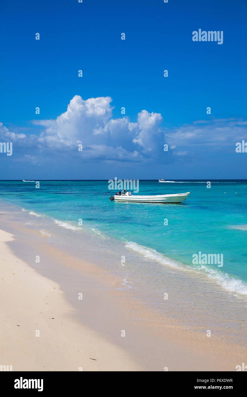 Dominikanische Republik, Punta Cana, Parque Nacional del Este, Saona, Catuano Strand Stockbild