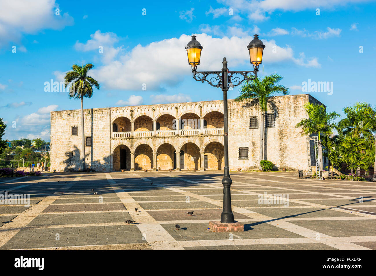 Colonial Zone (Ciudad Colonial), Santo Domingo, Dominikanische Republik. Alcazar de Colon (Columbus) Alcazar Palast. Stockbild