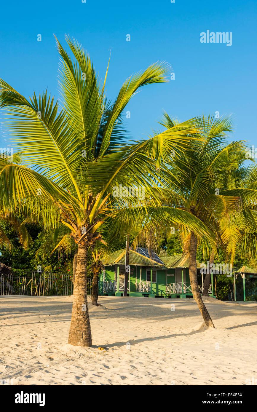 Mano Juan, Saona, East National Park (Parque Nacional del Este), Dominikanische Republik, Karibik. Stockfoto