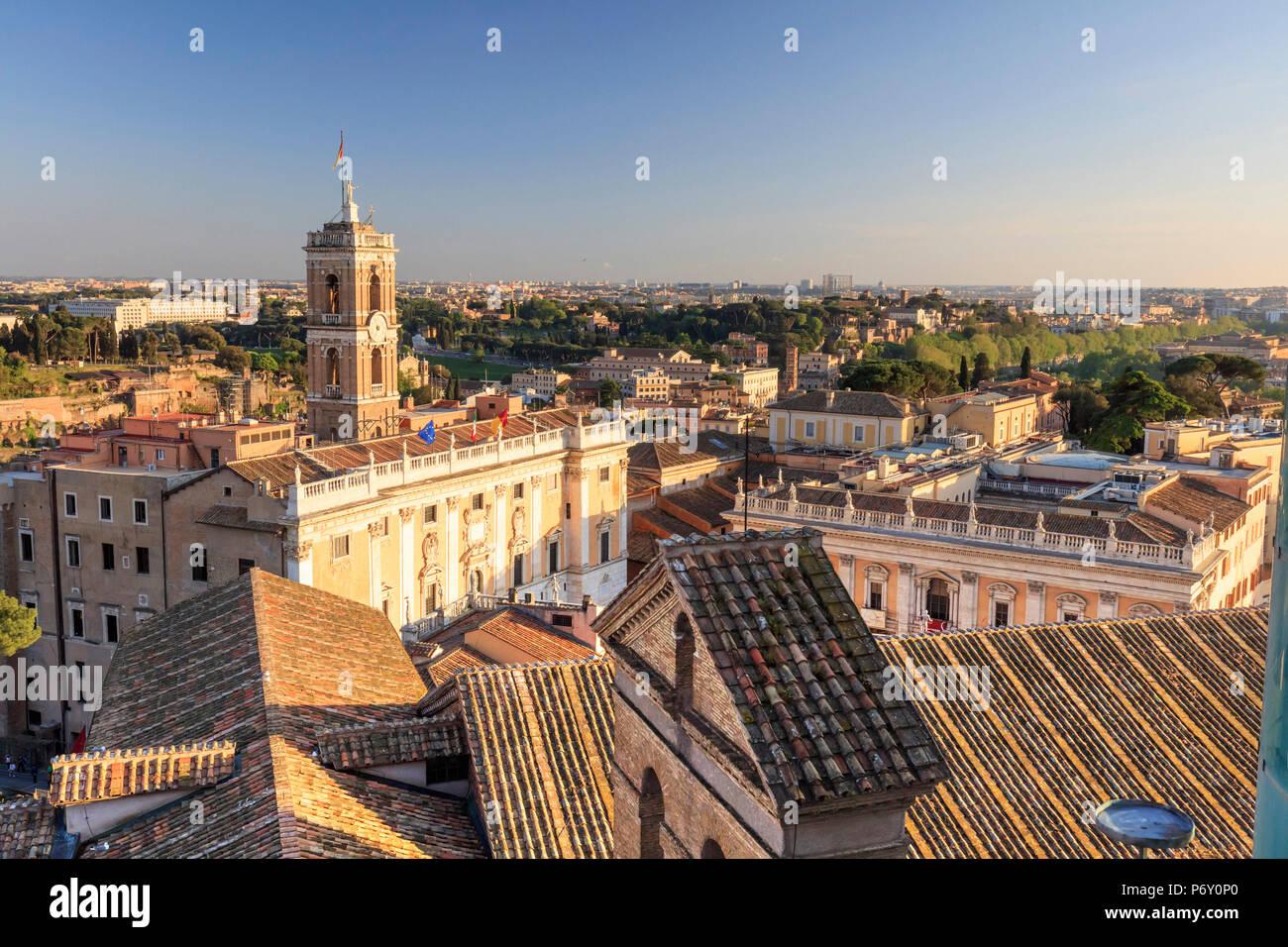 Italien, Rom, Capidoglio, der Heimat der Bürgermeister der Stadt Stockbild