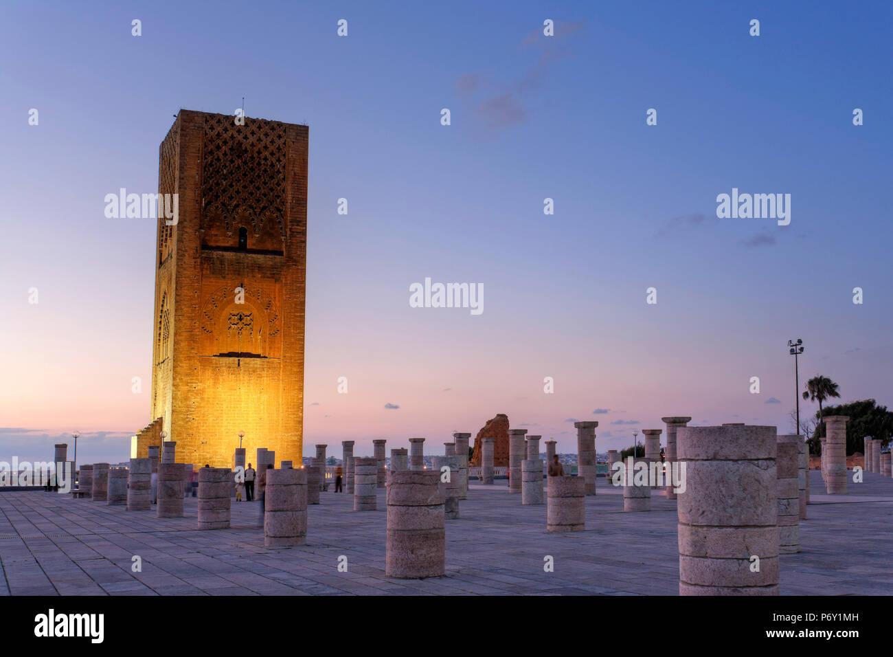 Marokko, Rabat, Hassan-Turm Stockbild