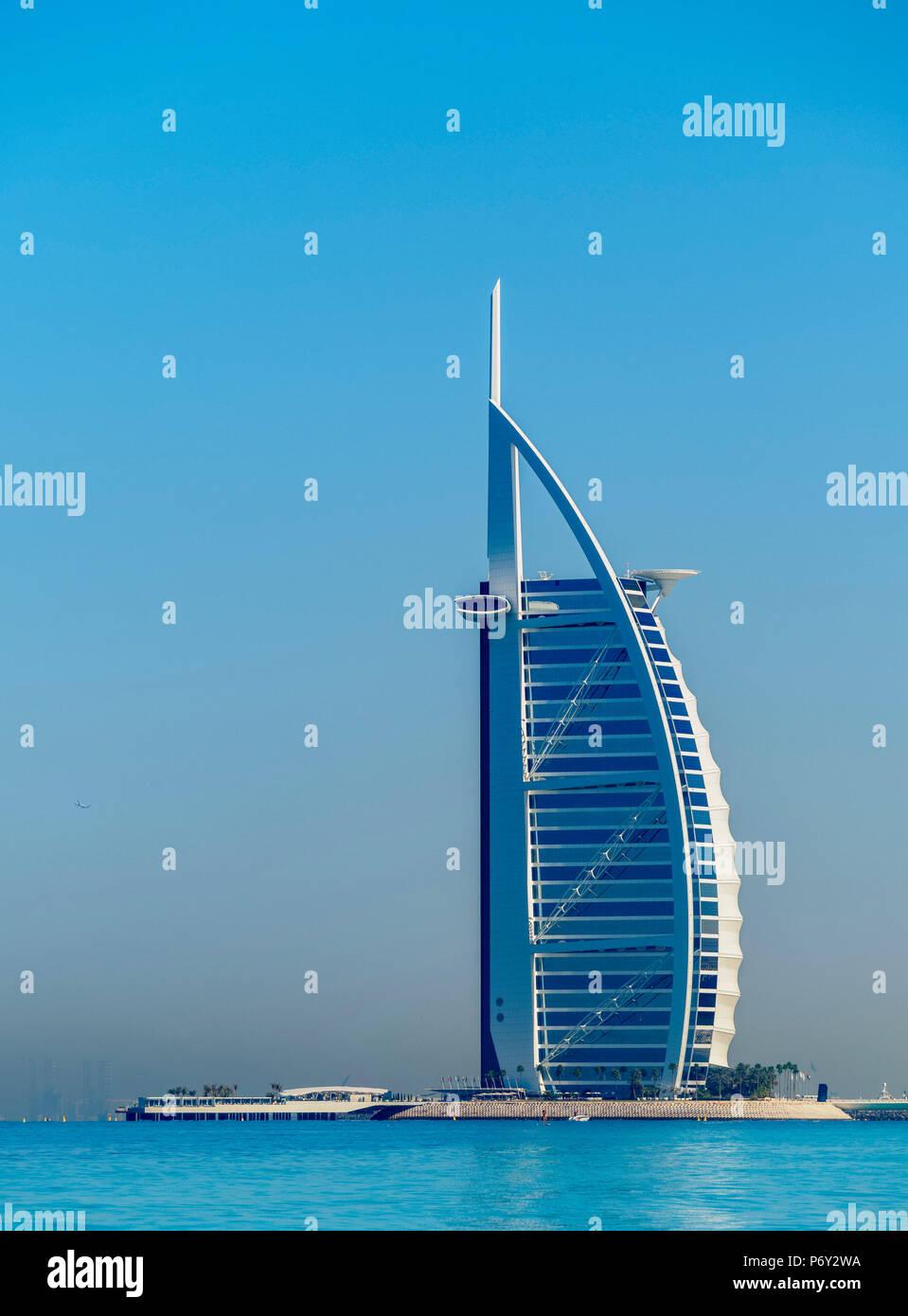 Burj Al Arab Hotel, Dubai, Vereinigte Arabische Emirate Stockbild