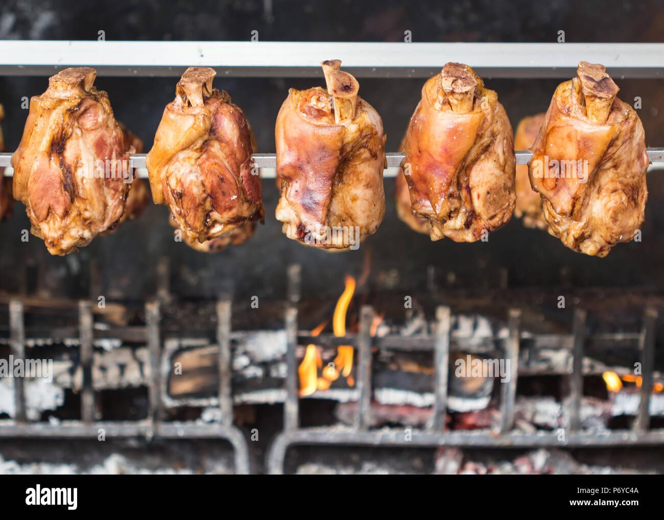 Deutsche Beine/Eisbein/BBQ-Grill Stockbild