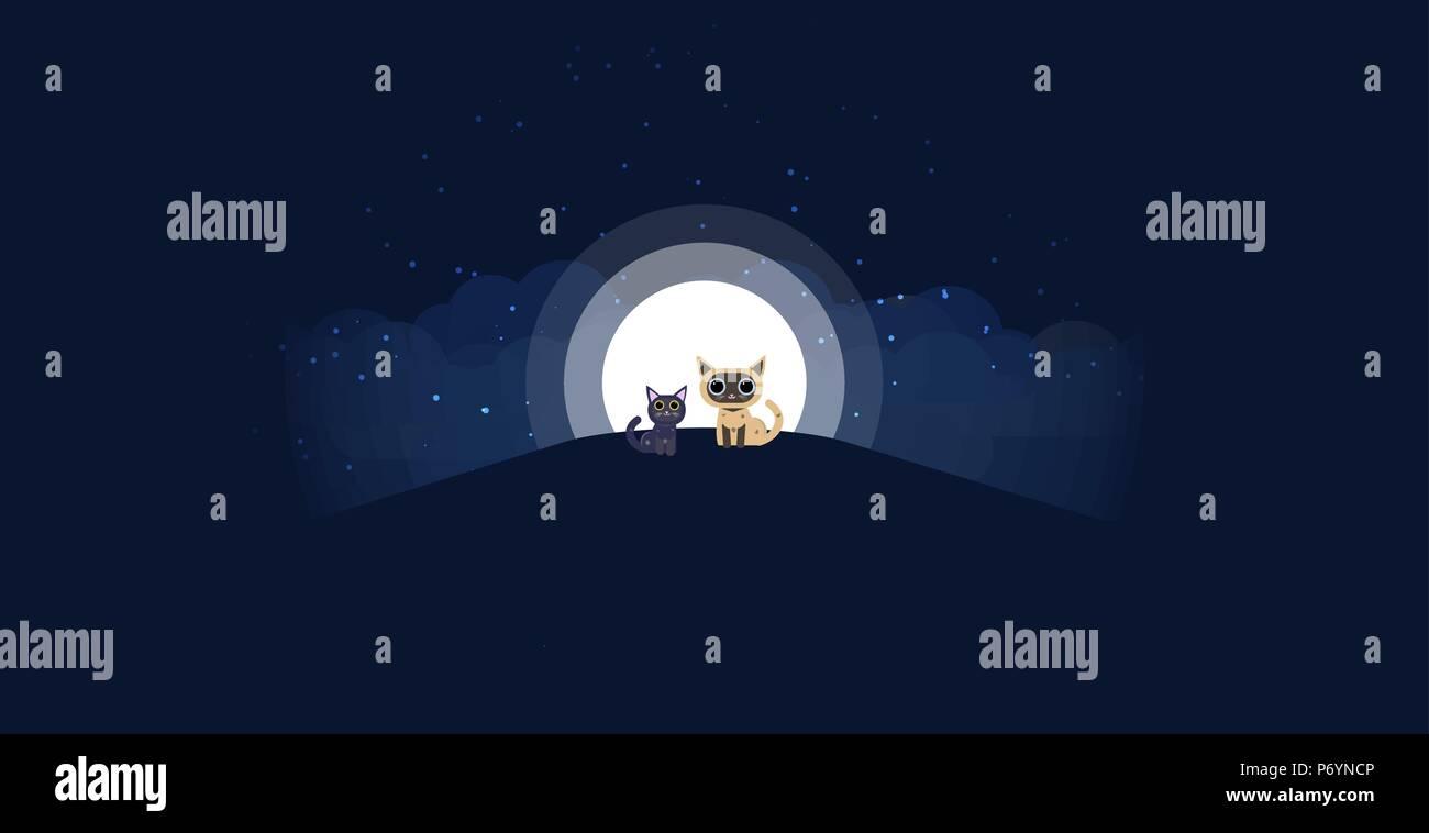 Black Cat And Moon Stockfotos & Black Cat And Moon Bilder - Alamy