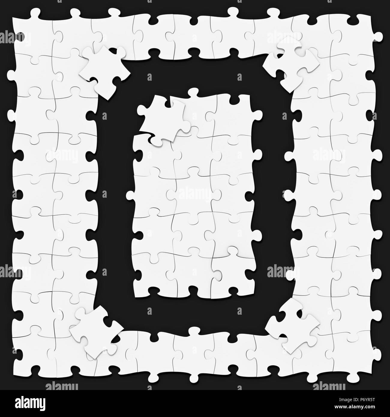 Jigsaw Puzzles zusammengesetzt mathematische Ziffer 8 oder Null ...