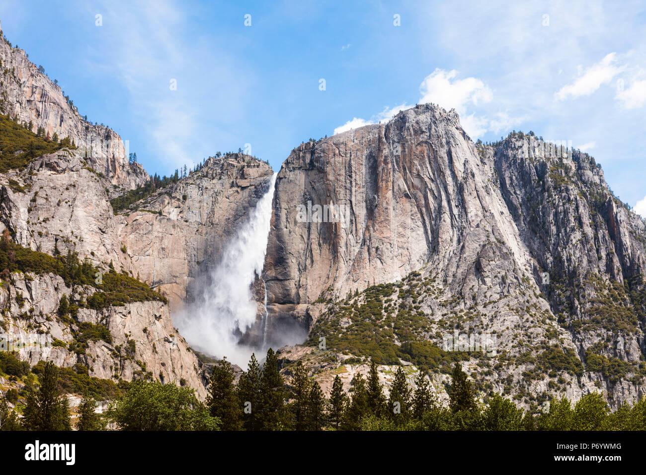Upper Yosemite Fall, Yosemite National Park, Kalifornien, USA Stockbild