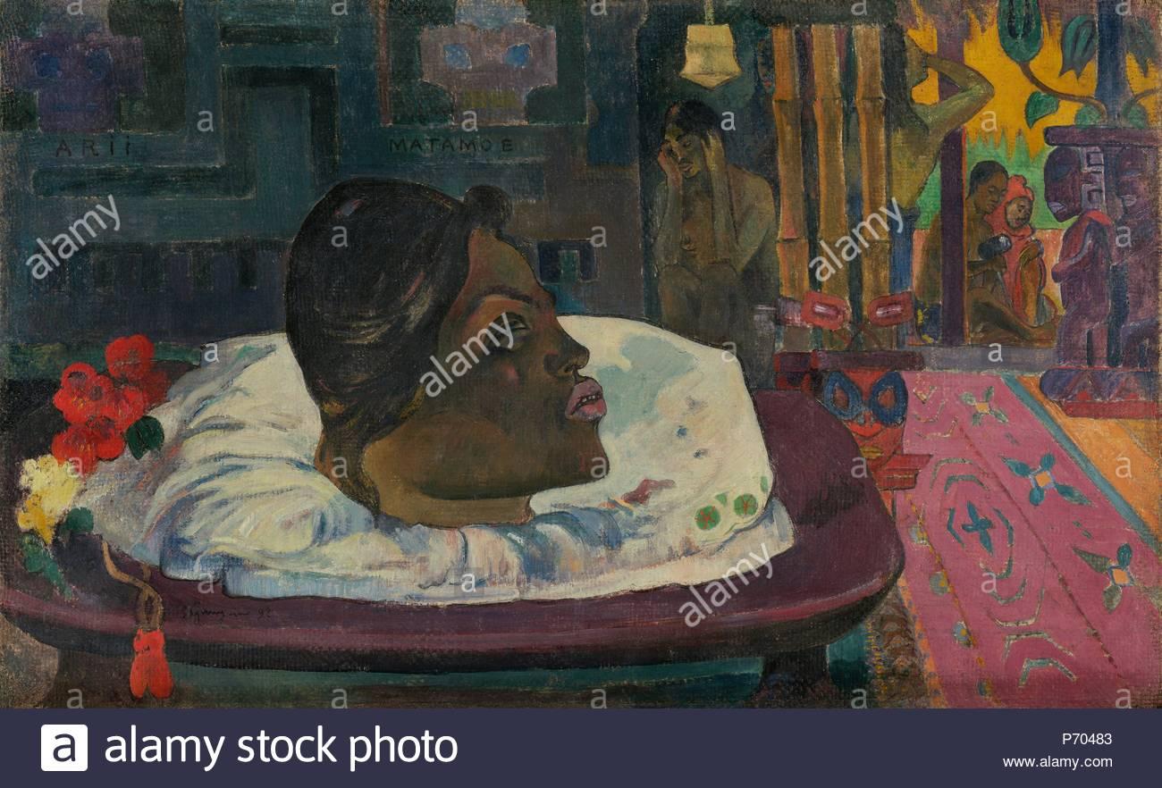 Arii Matamoe (Die Königliche Ende); Paul Gauguin, Französisch, 1848 ...
