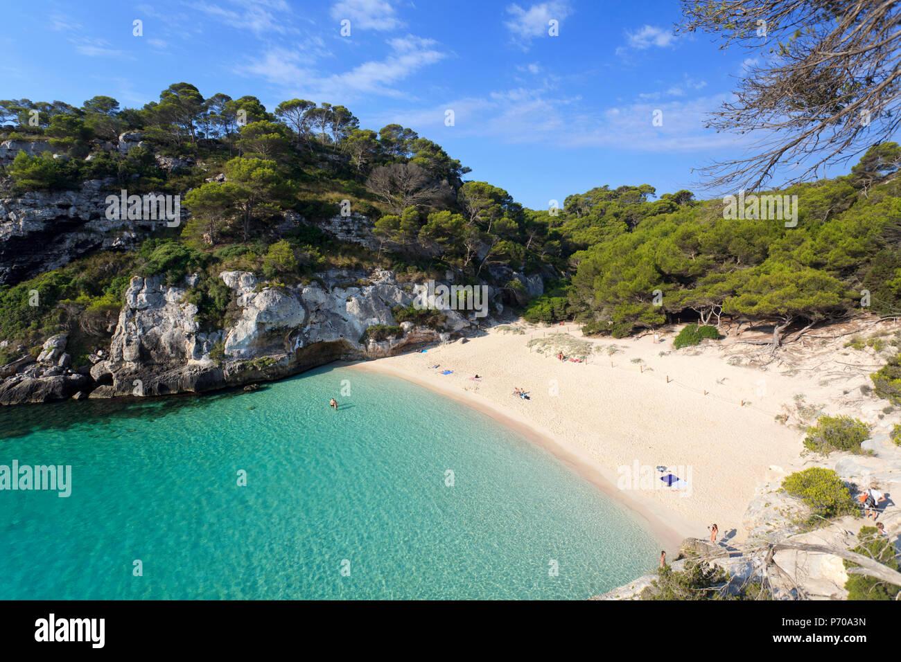 Spanien, Balearen, Menorca, Cala Macarelleta Stockfoto