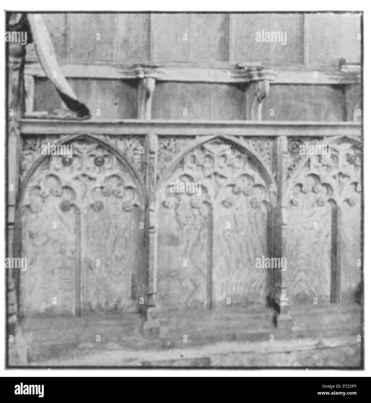 Englisch: Stände, Sall Kirche, Norfolk. (Moderne ...