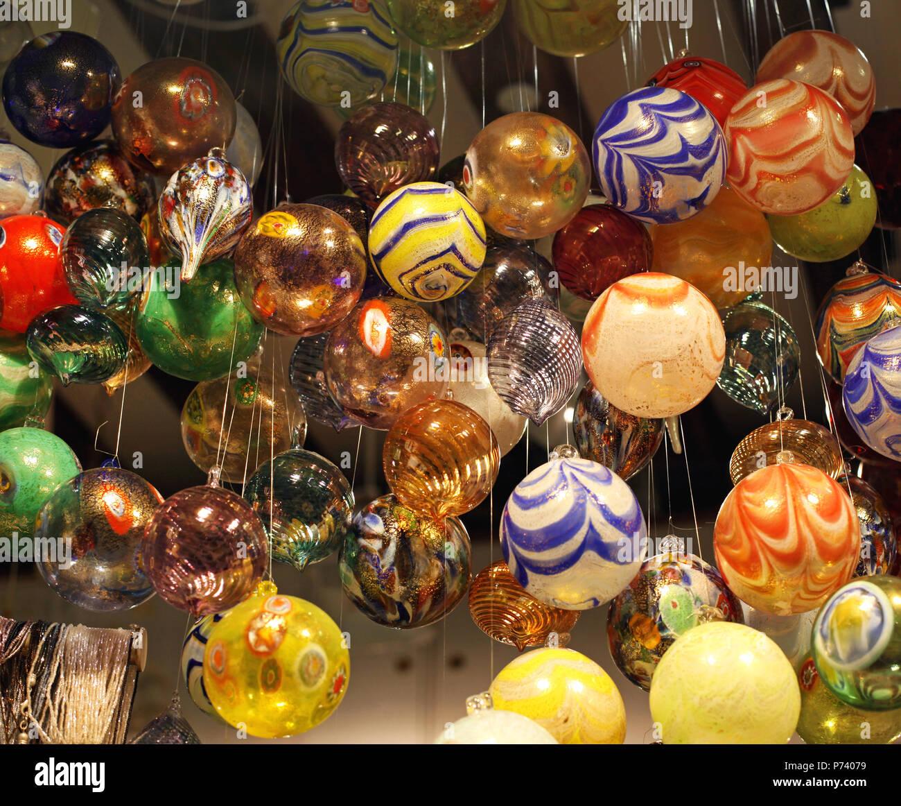 Christbaumkugeln Glas Bunt.Bunte Murano Glas Christbaumkugeln Weihnachten Dekoration