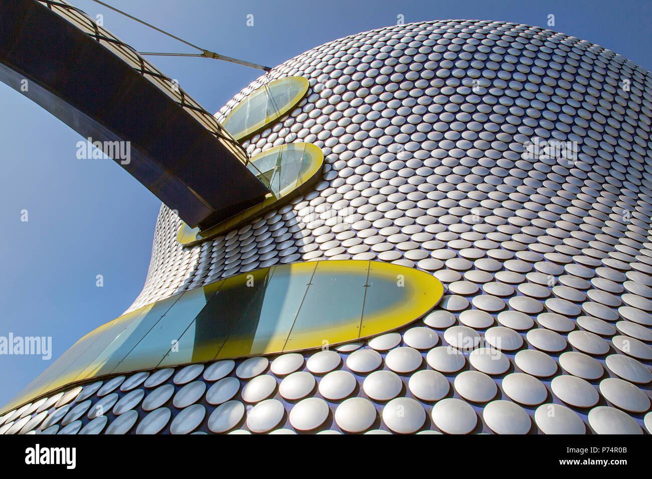 Birmingham, Vereinigtes Königreich: 29. Juni 2018: Selfridges ist einer der markantesten und Wahrzeichen der Stadt Birmingham und ein Teil der Bullring Shopping Centre Stockbild