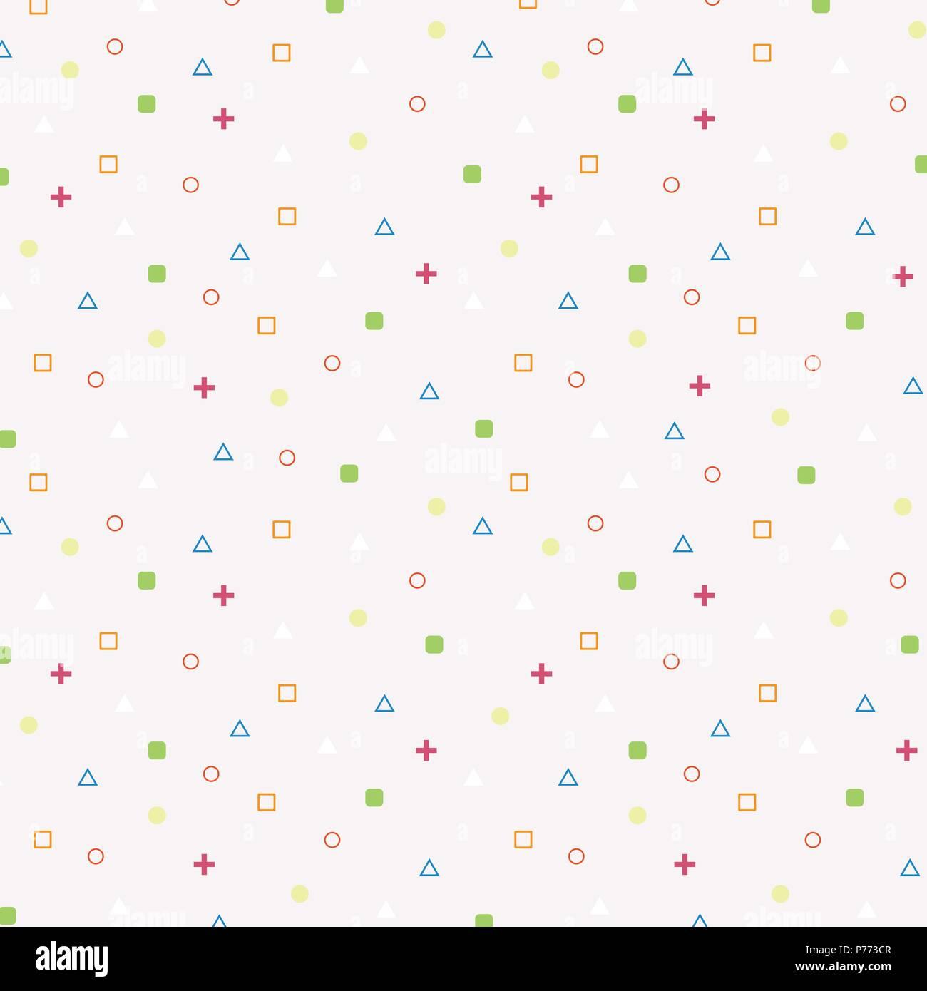 Zusammenfassung Von Bunten Geometrischen Form Muster Klein Vector