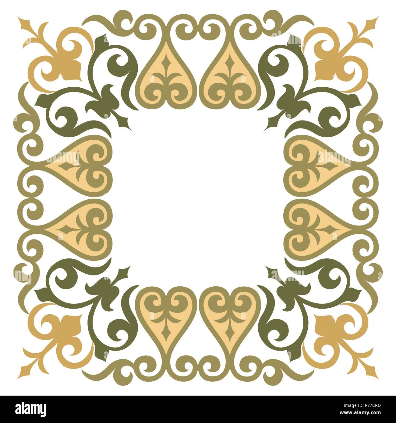Elegante und einfache dekorative Rahmen Rahmen Vektor Abbildung ...
