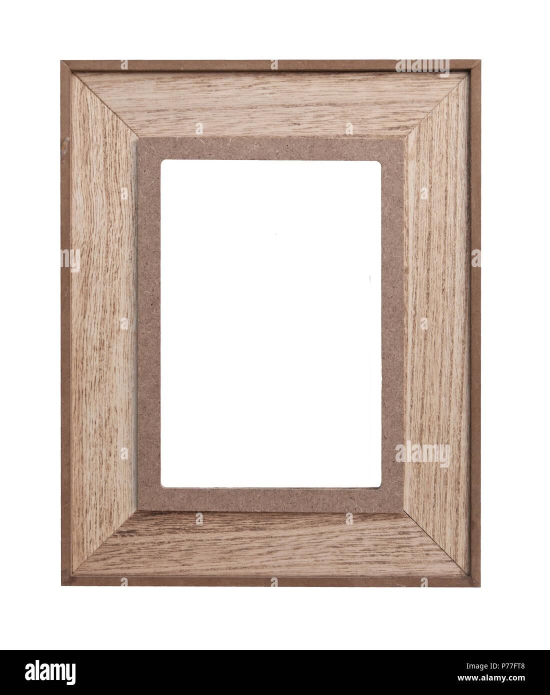 Holz Bilderrahmen auf weißem Hintergrund - vintage Bilderrahmen Holz ...