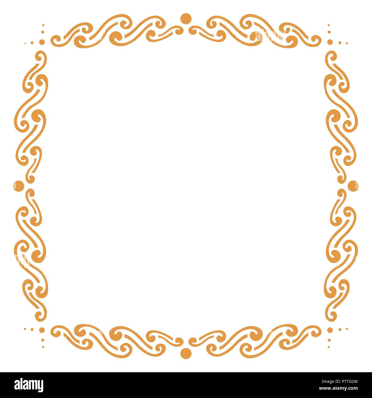 Einfache künstlerischen Rahmen, Freehand Vektor Abbildung - Bild ...