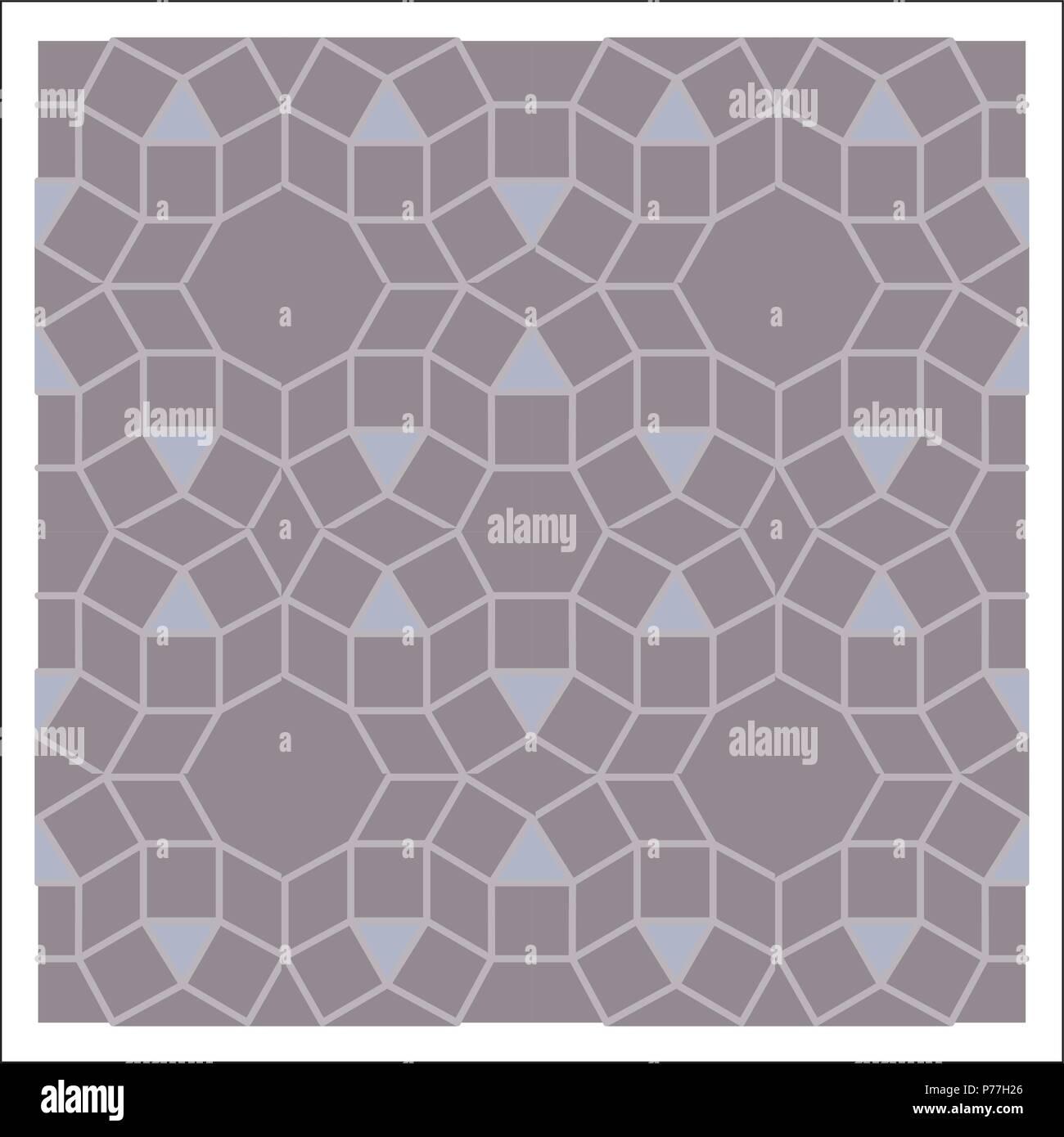 Buntes Mosaik Muster Fliesenlegen Blocke Vektor Abbildung Bild