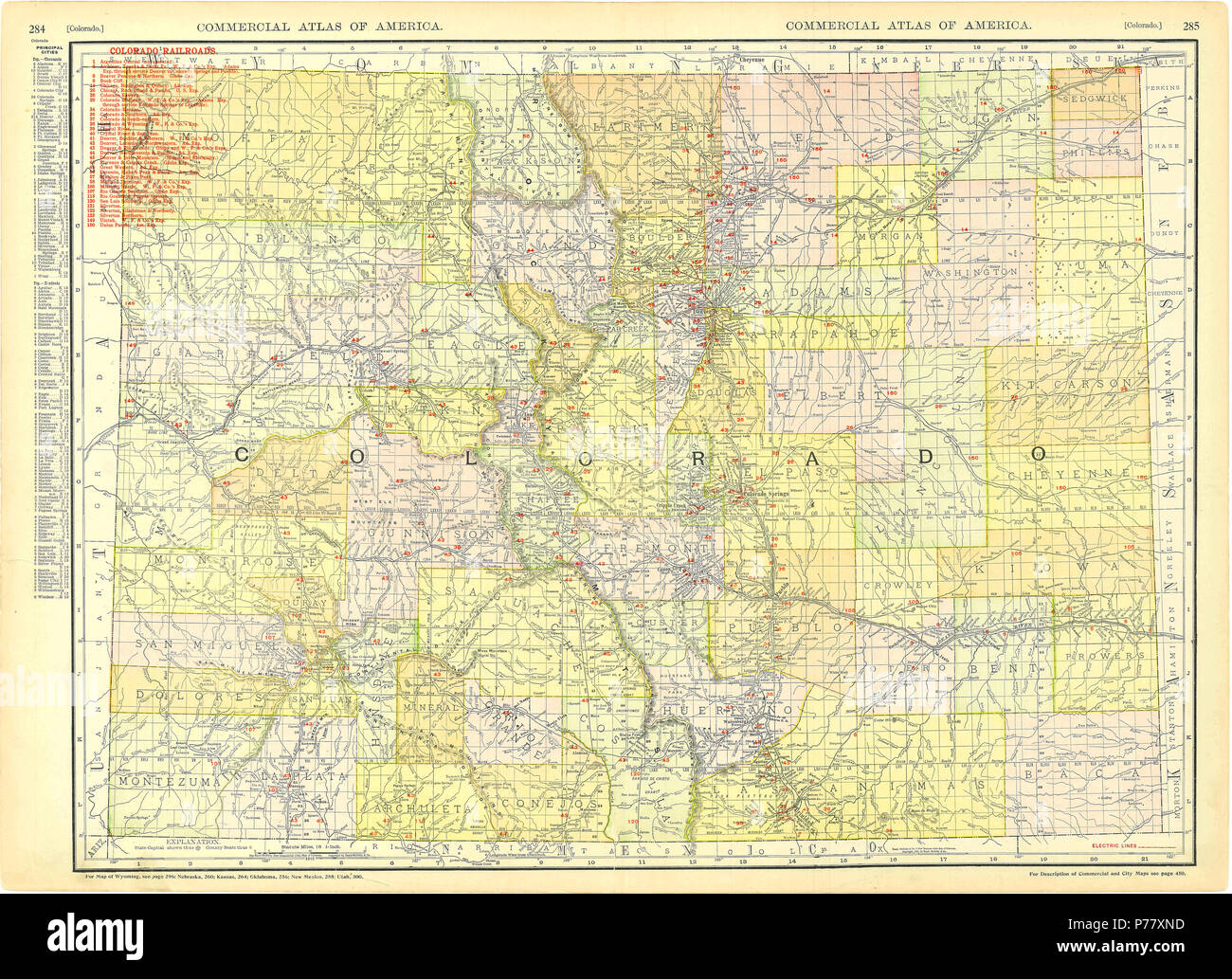 Colorado Karte Fluss.Colorado Staatskarte Stockfotos Colorado Staatskarte