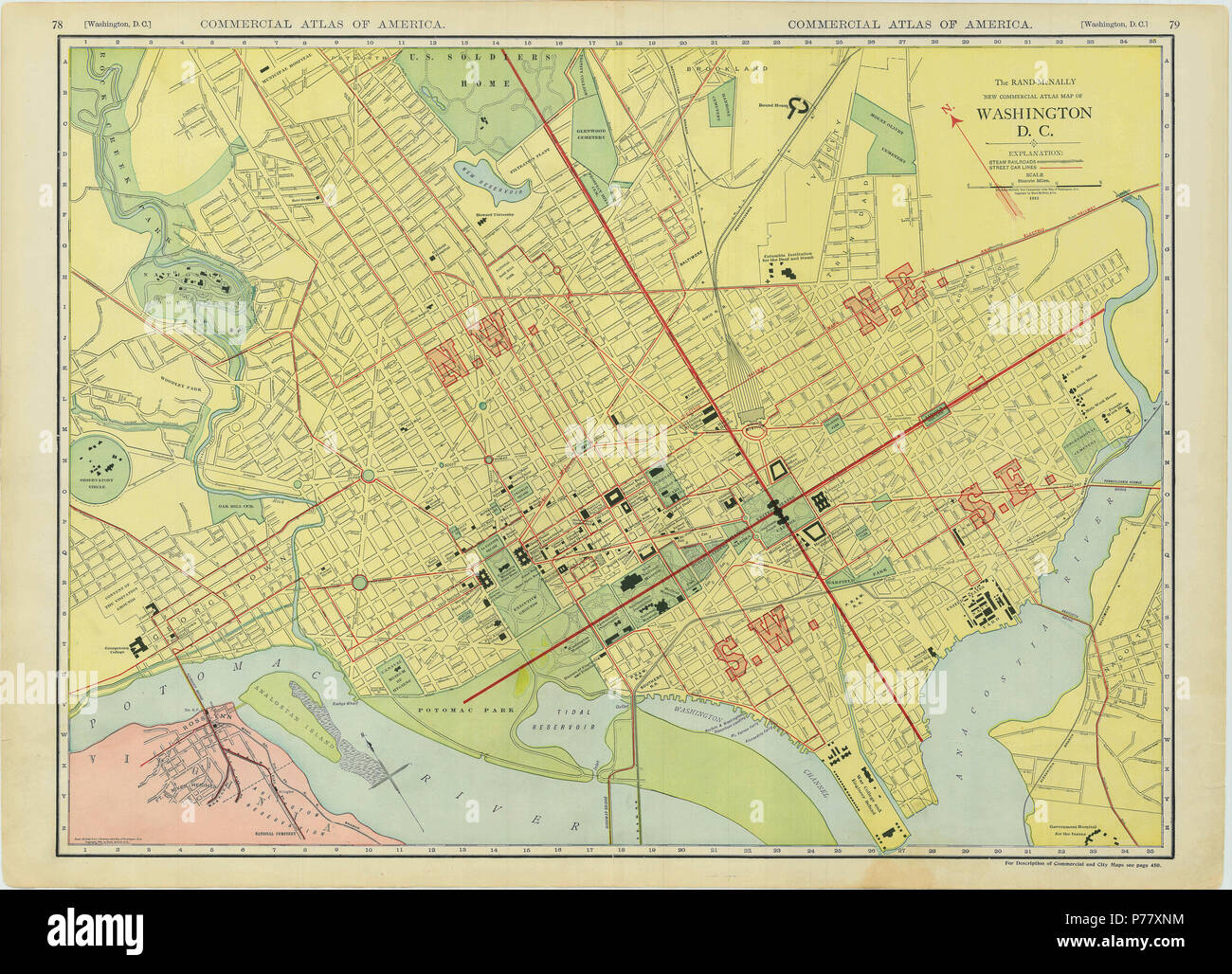 District Of Columbia Map Stockfotos & District Of Columbia Map ...