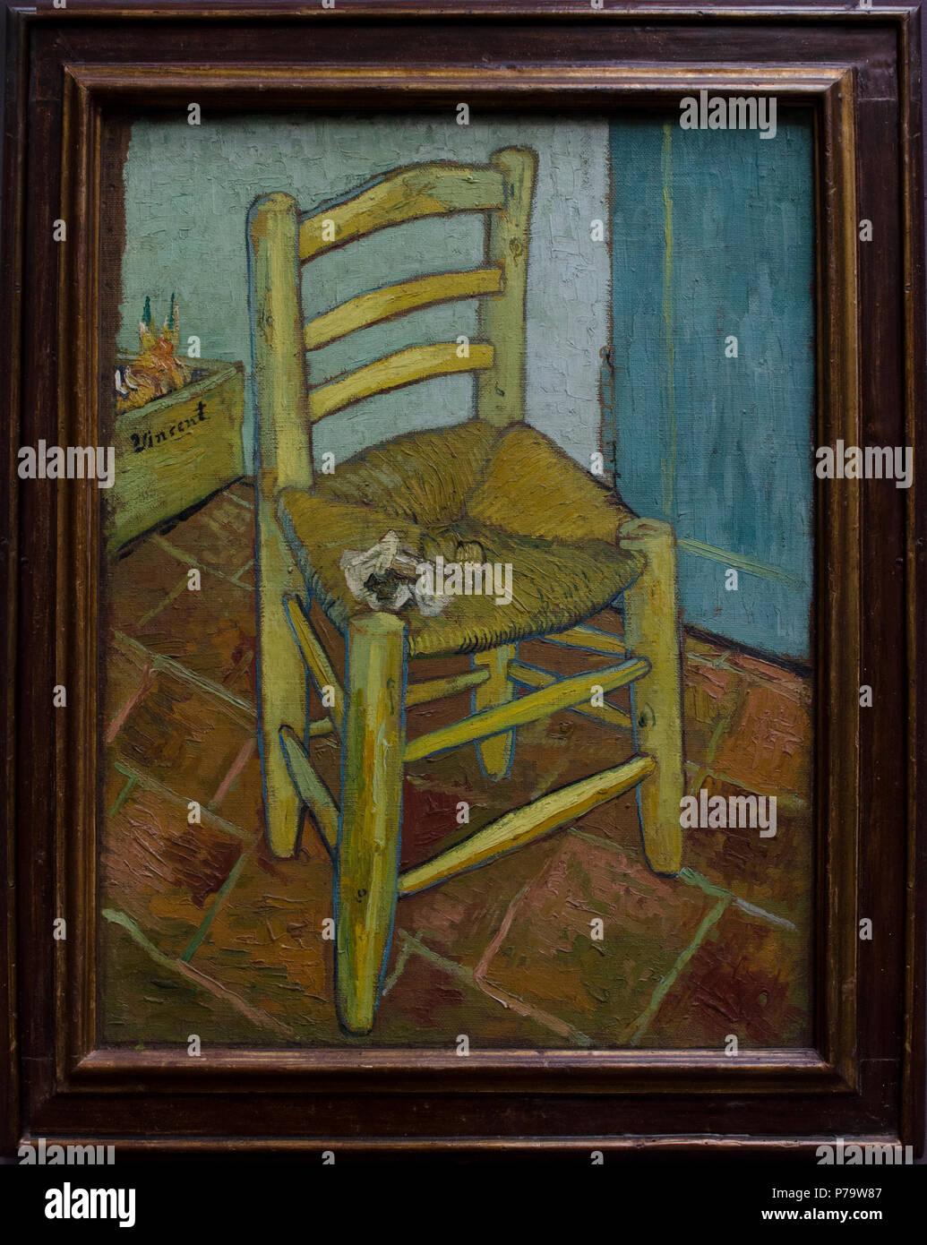 Van Goghs Chair 1888 Stockbild