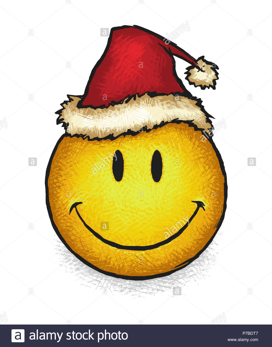 Weihnachten Smiley Stockfoto, Bild: 211079351 - Alamy