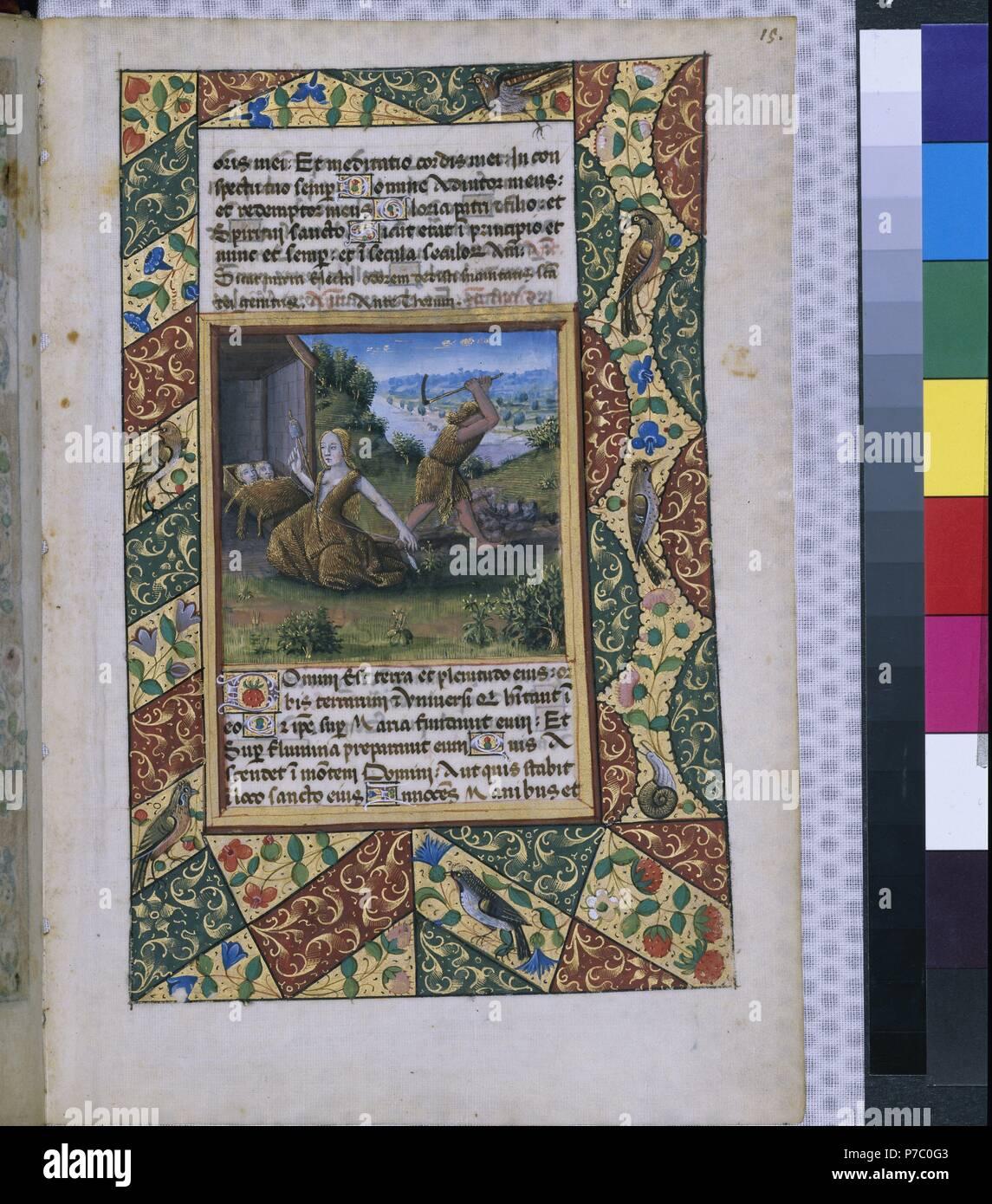 Libro de Horas De Luis de Orleans R15. Museum: BIBLIOTECA NACIONAL DE RUSIA SAN PETERS RUSIA. Stockbild