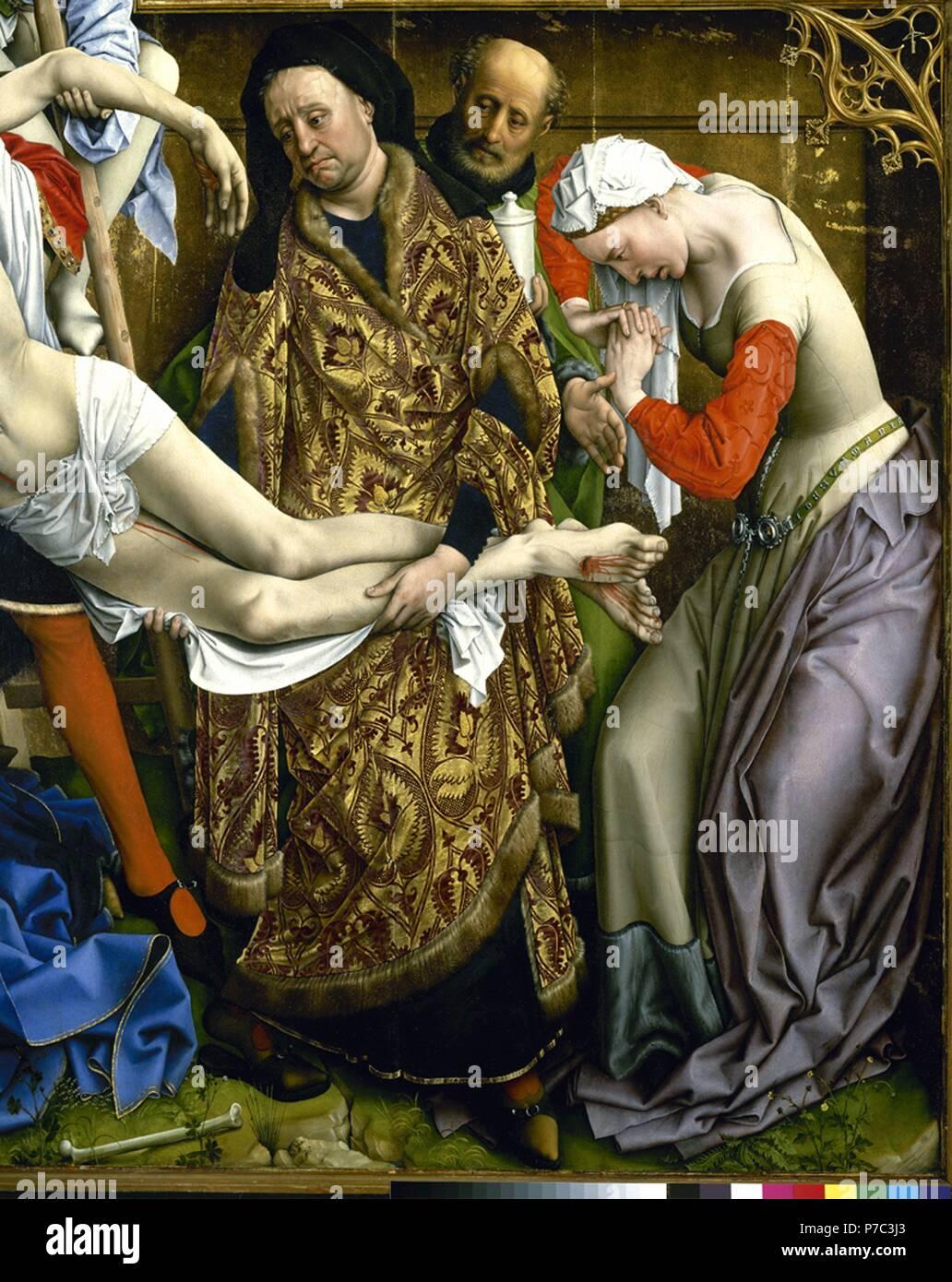 El Descendimiento De La Cruz Las Mejores De Nicodemo Y María Magdalena 1435 Museum Museo Del Prado Madrid España Stockfotografie Alamy