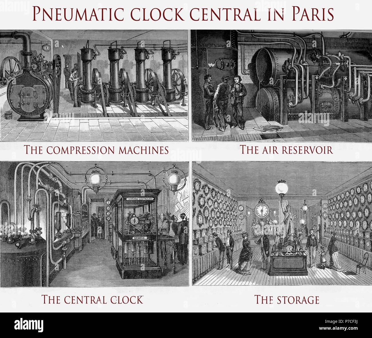 Paris Pneumatische Clock System Die Uhren Die In Der Ganzen Stadt