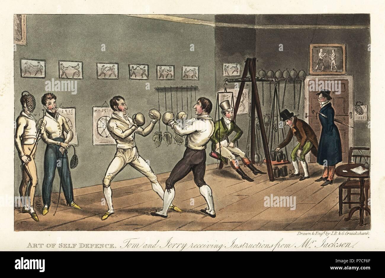 Englisch Dandy Tom Ein Boxing Lektion Von Beruhmten Boxer Gentleman