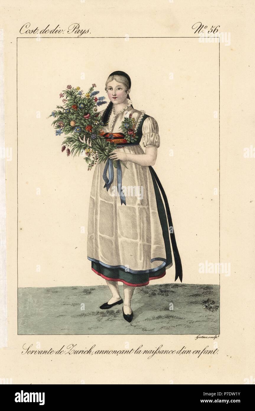 Servant Girl 19th Century Stockfotos Servant Girl 19th Century