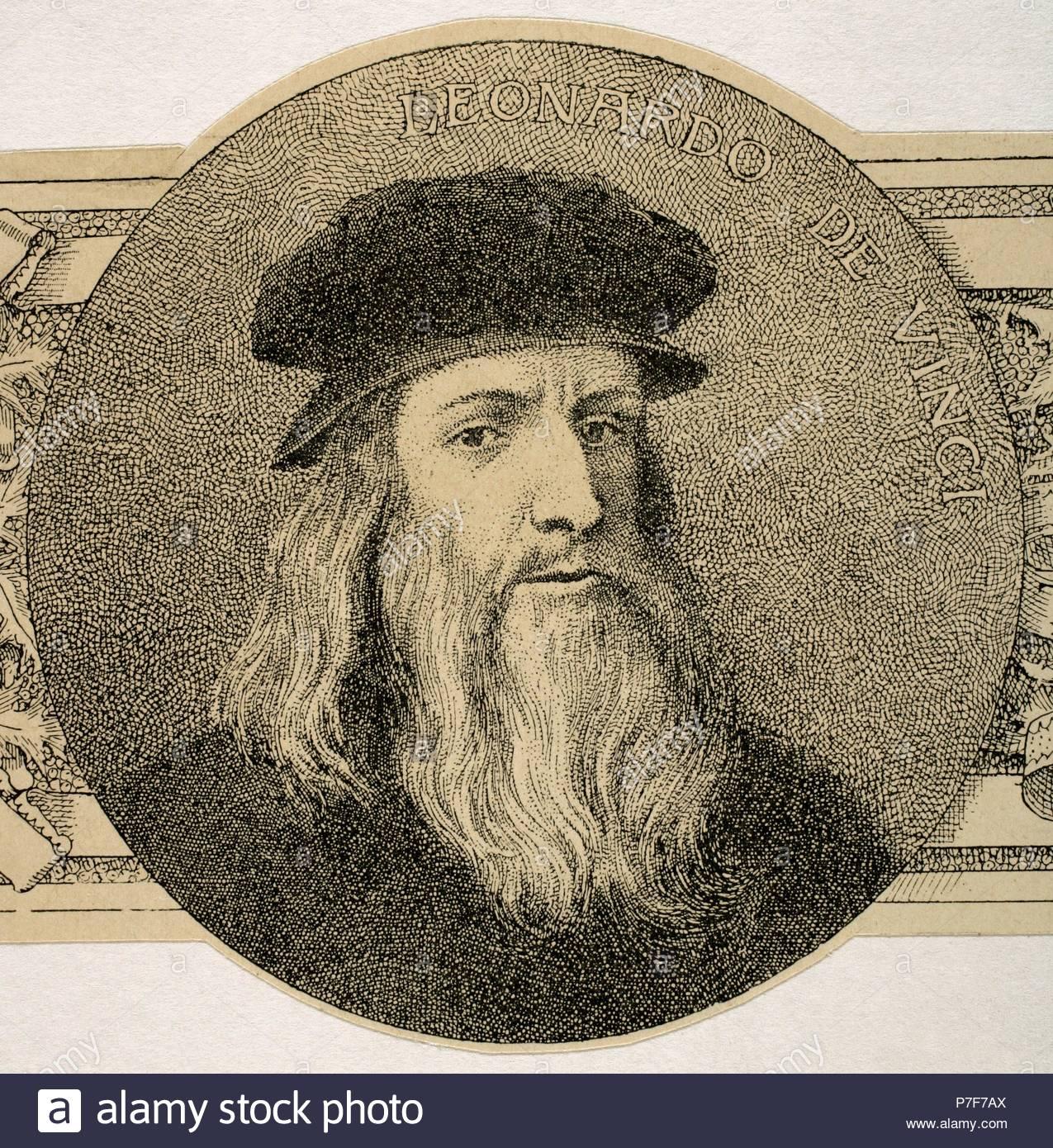 Leonardo da Vinci (1452-1519). Italienischen Universalgelehrten für ...
