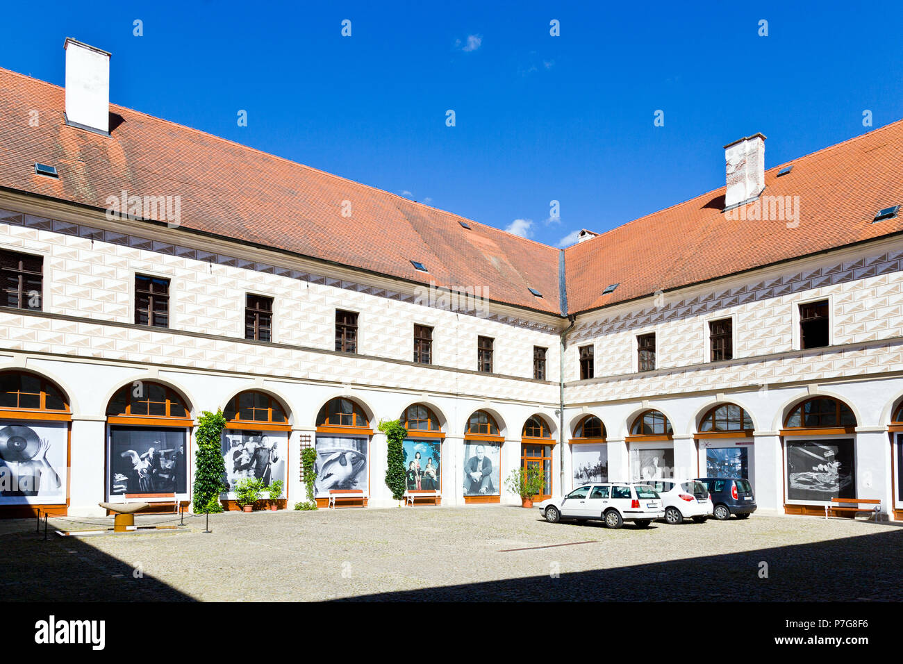 Muzeum Fotografie eine moderních obrazových médií, Trutnov, Jizni Cechy, Ceska Republika / Museum für Fotografie und modernen visuellen Medien, Jindr Stockbild