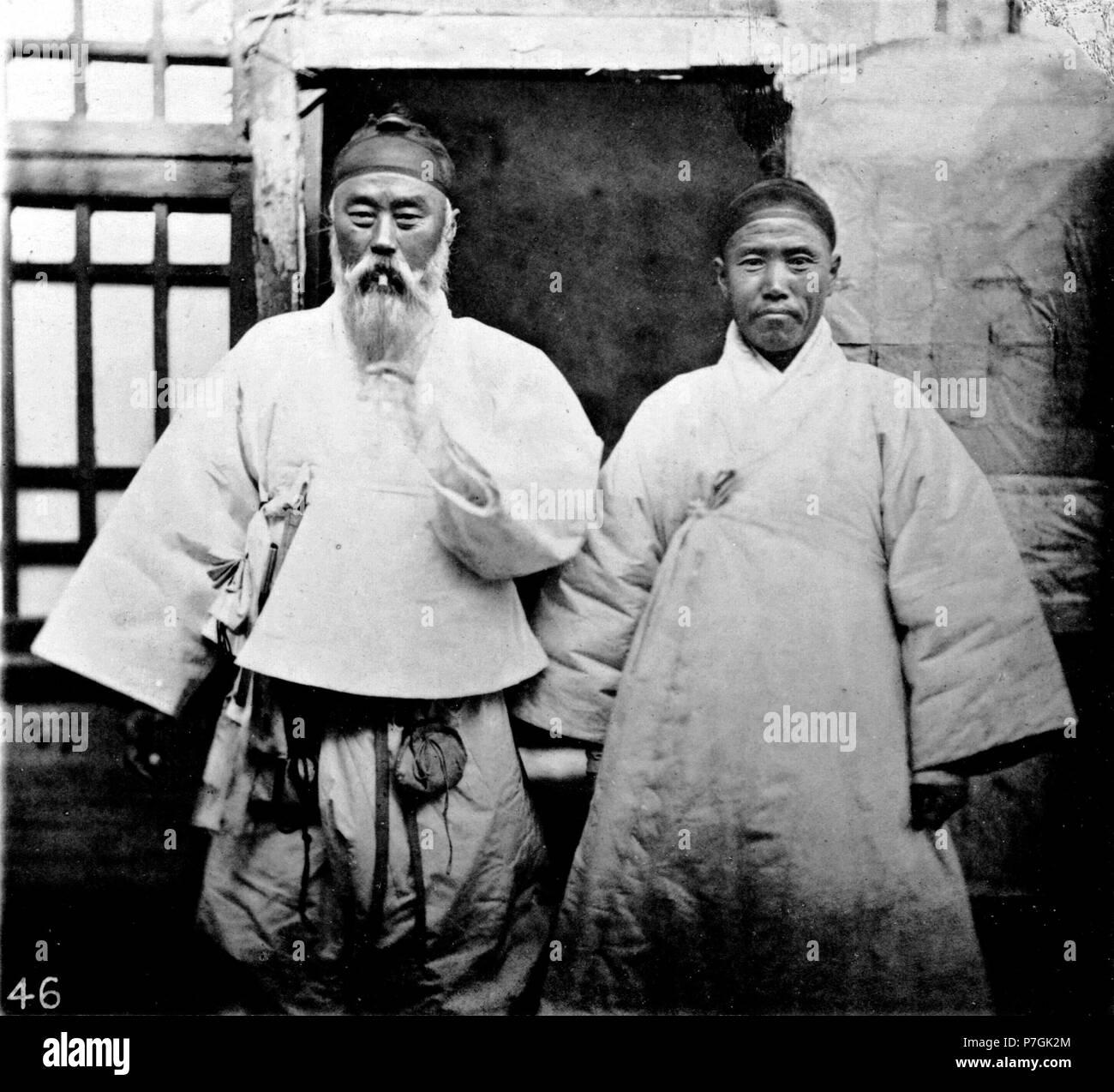 Englisch John Thomson Coreans Ist Eine Der Nationen Nebenfluss