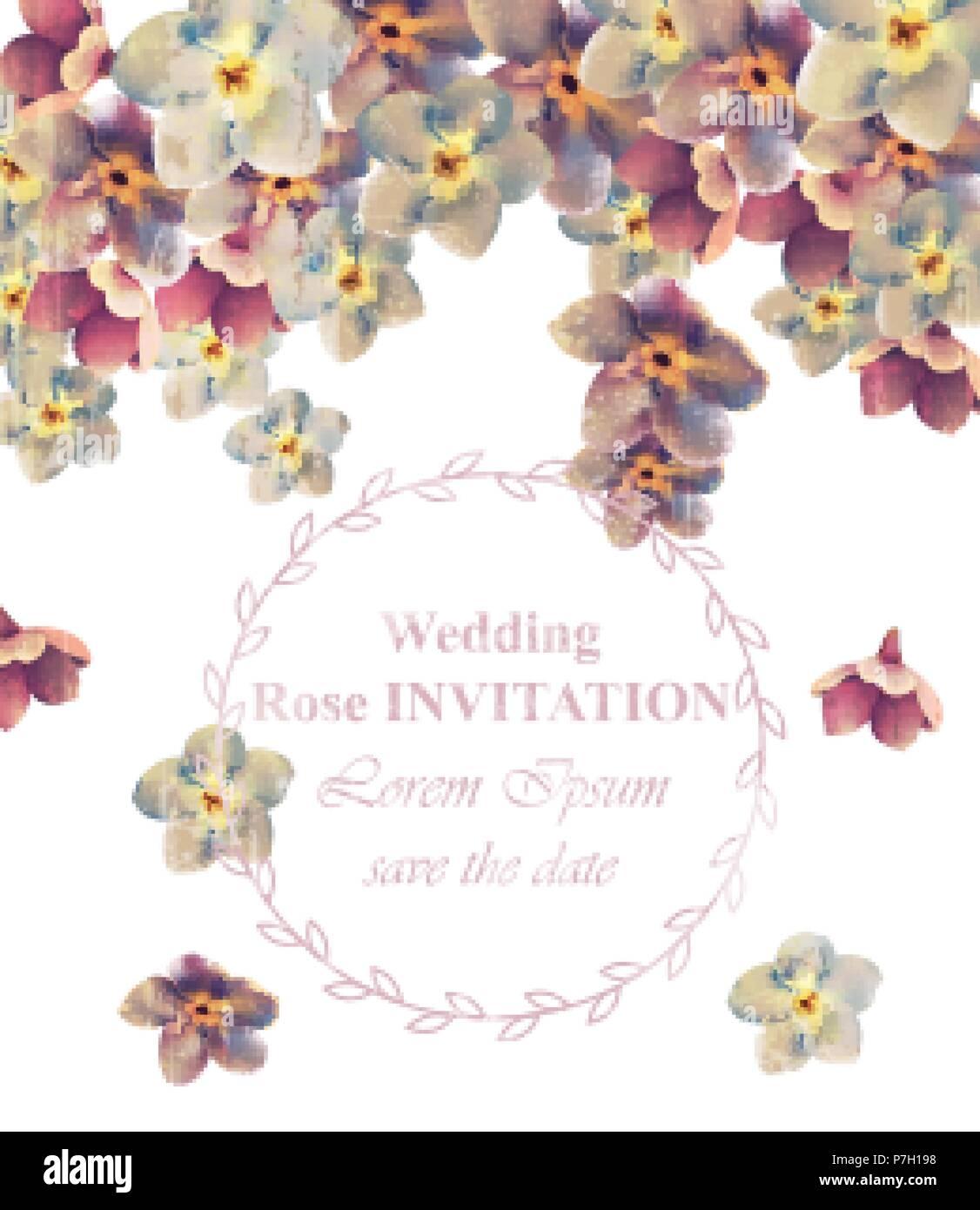 Vintage Hochzeit Rahmen Blumen Vektor Schonheit Blumenschmuck