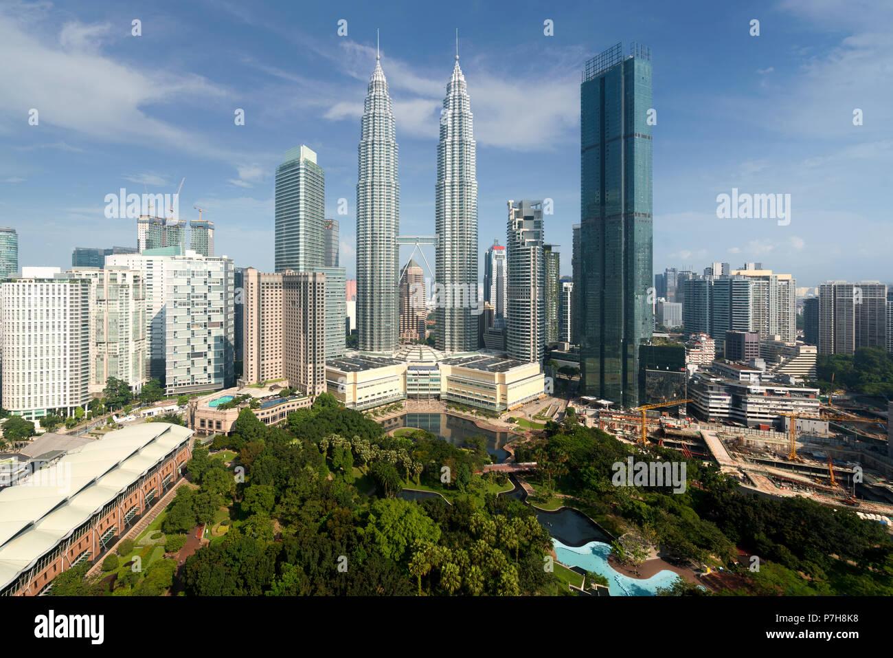 Kuala Lumpur Skyline der Stadt und den Wolkenkratzern Gebäude im Geschäftsviertel der Innenstadt in Kuala Lumpur, Malaysia. Asien. Stockbild