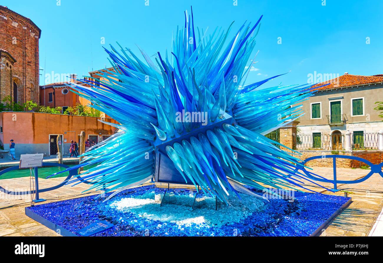 Venedig Italien 16 Juni 2018 Murano Glas Skulptur Namens Komet Glas Star Von S Cenedese In Murano Stockfotografie Alamy