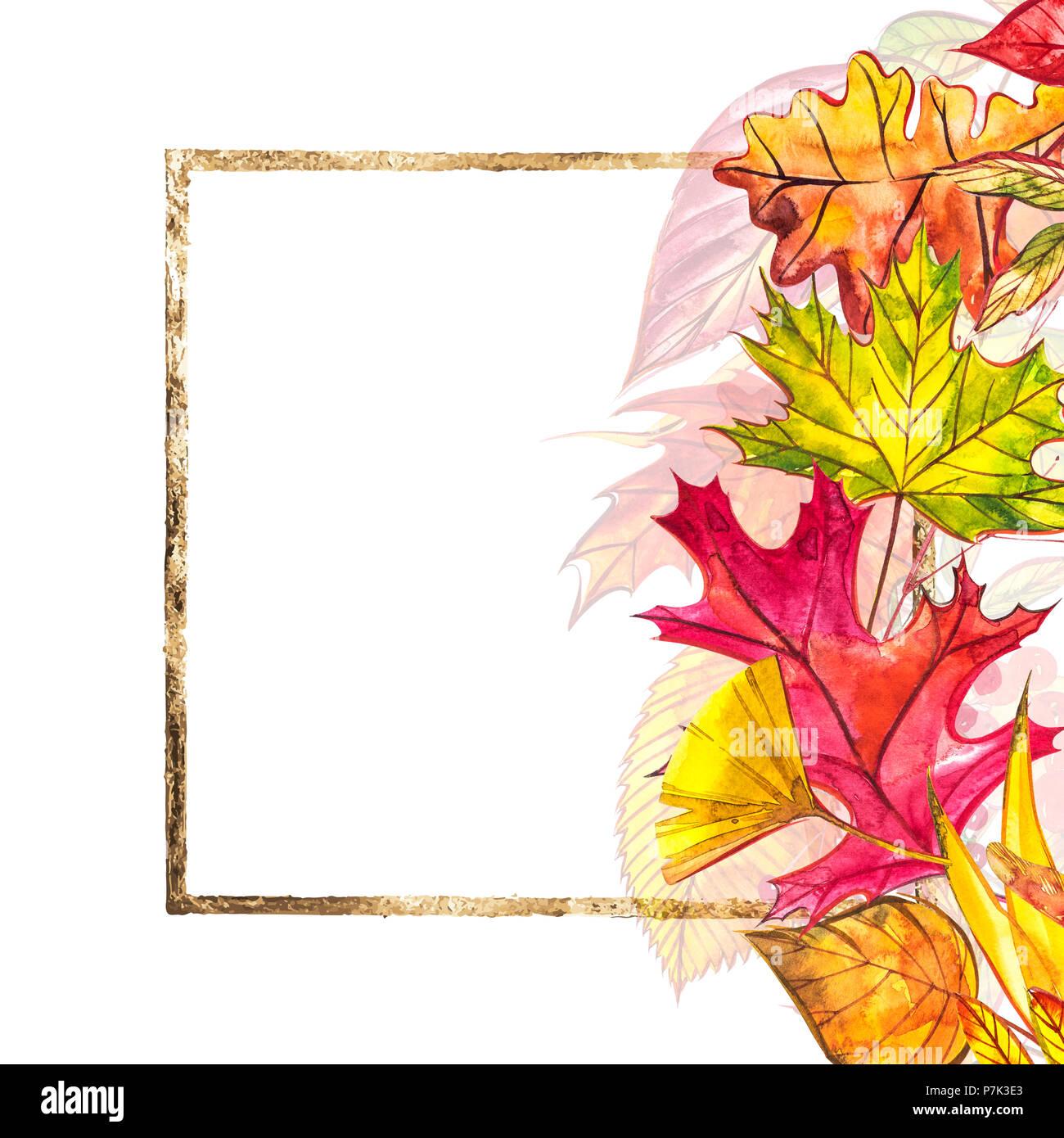 Herbst Vorlage Hintergrund. Saisonale Illustrationen. Web Banner ...