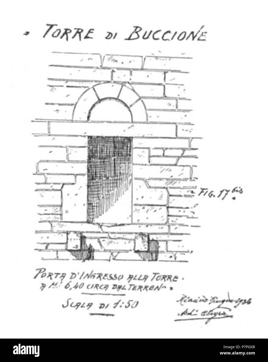 Italiano Torre Di Buccione Porta D Ingresso Vor 1937 159 Abb 17