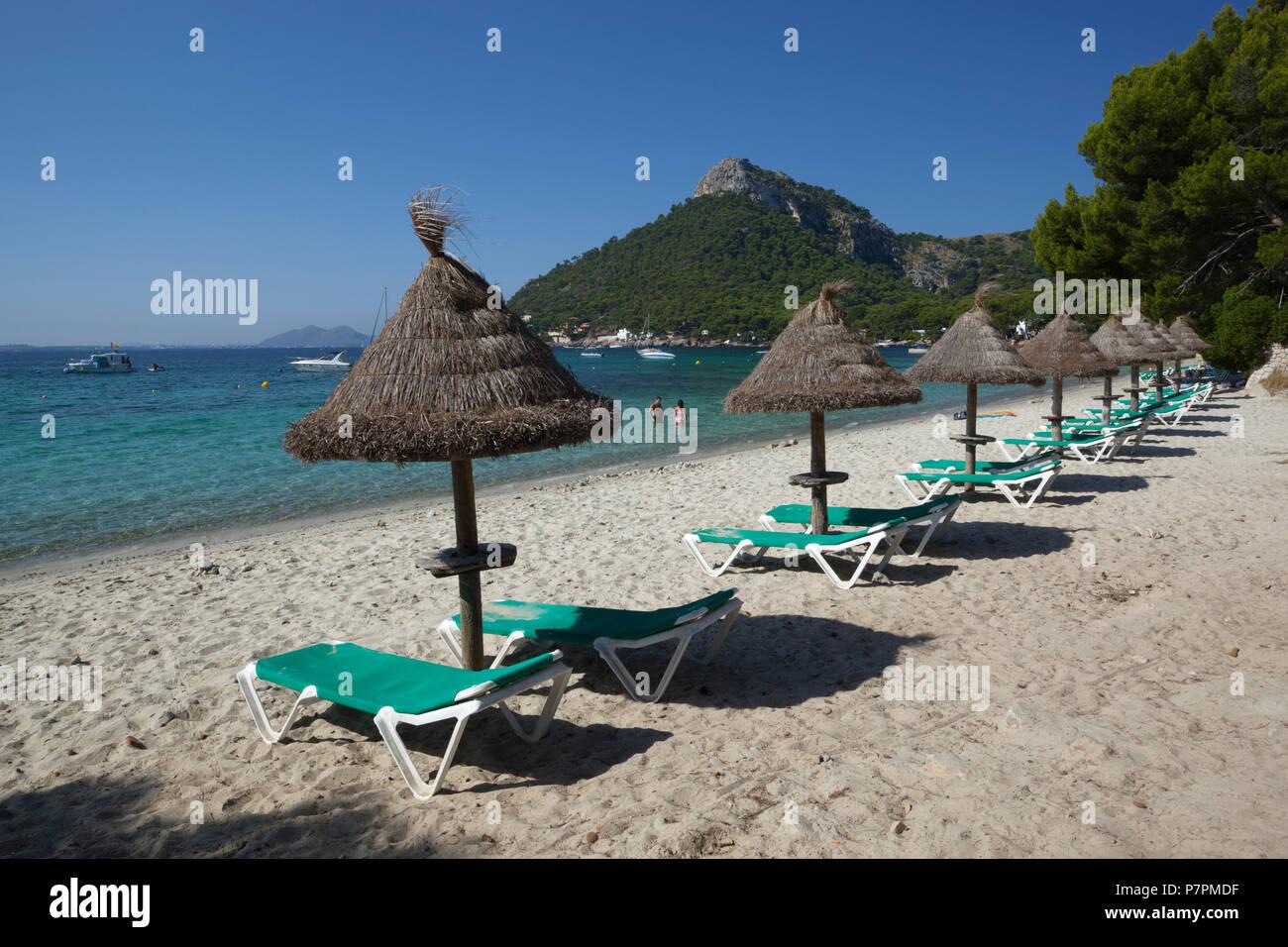 (Platja Formentor Playa de Formentor) in der Nähe von Port de Pollenca, Mallorca, Balearen, Spanien, Europa Stockbild