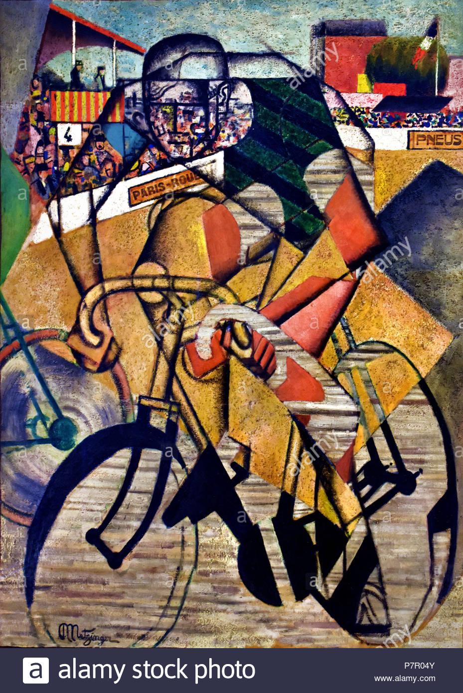 Auf den Race Track 1912 Jean Metzinger 1883 - 1956 Frankreich Französisch Stockbild