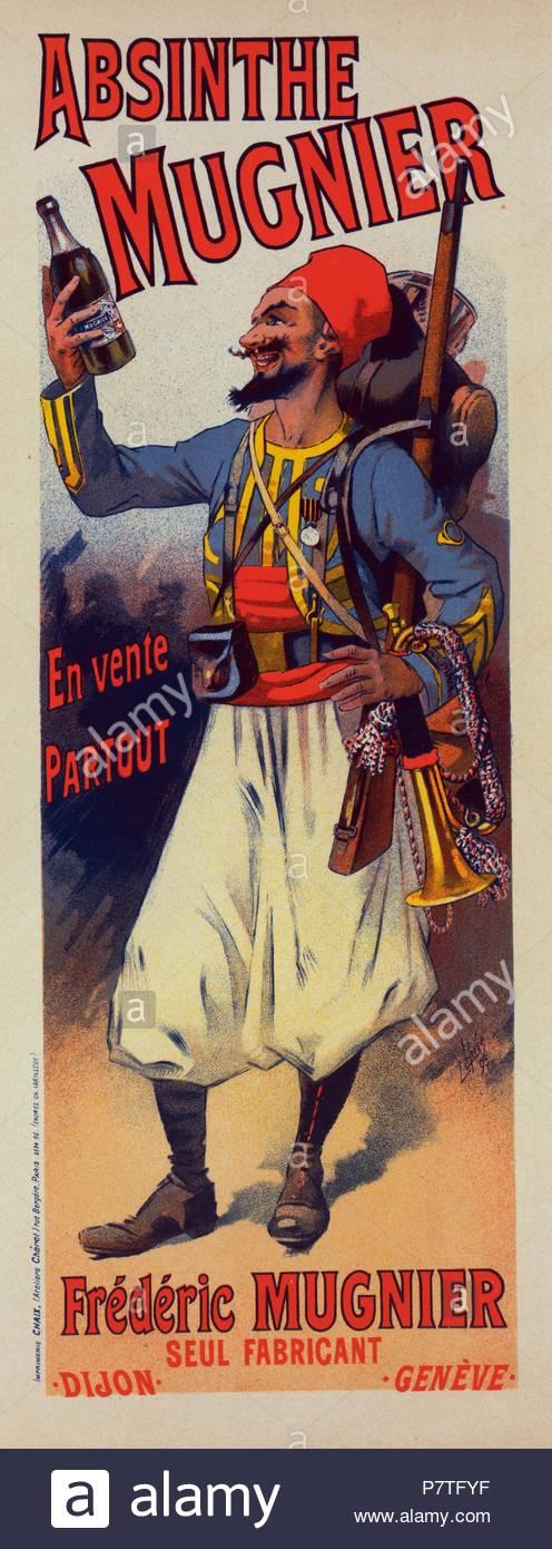 Plakat Für Labsinthe Mugnier Lucien Lefevre 1850 Frankreich Im
