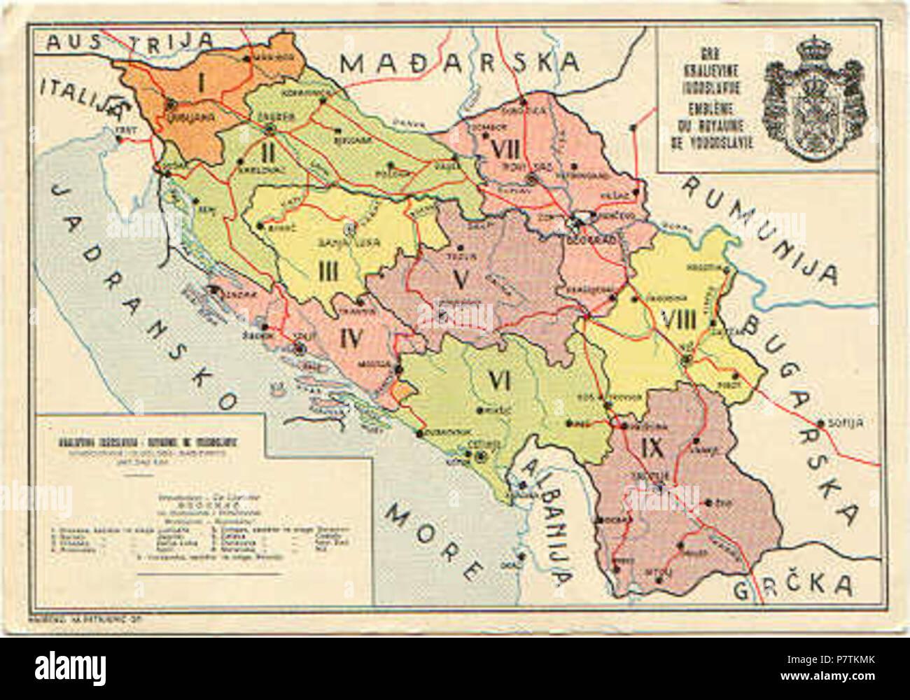 Ex Jugoslawien Karte.Yugoslavia Map Stockfotos Yugoslavia Map Bilder Alamy