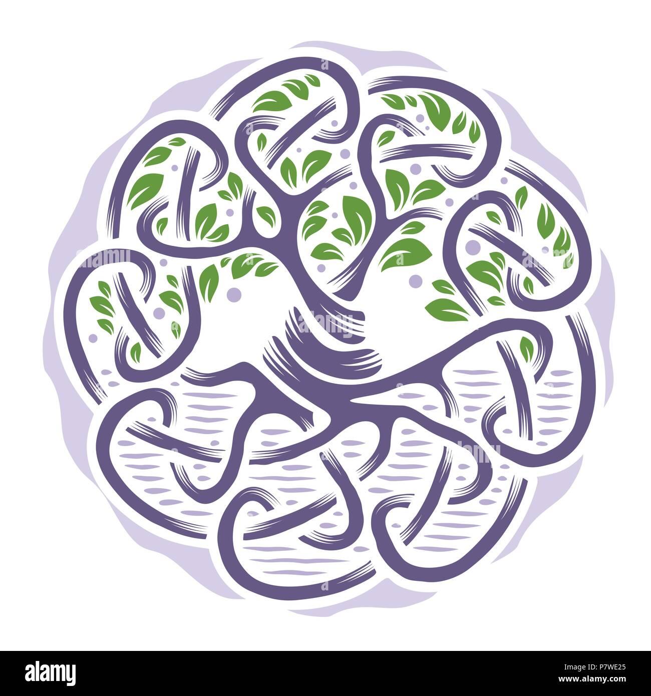 Abbildung Keltischer Baum Des Lebens Blasse Farben Vektor