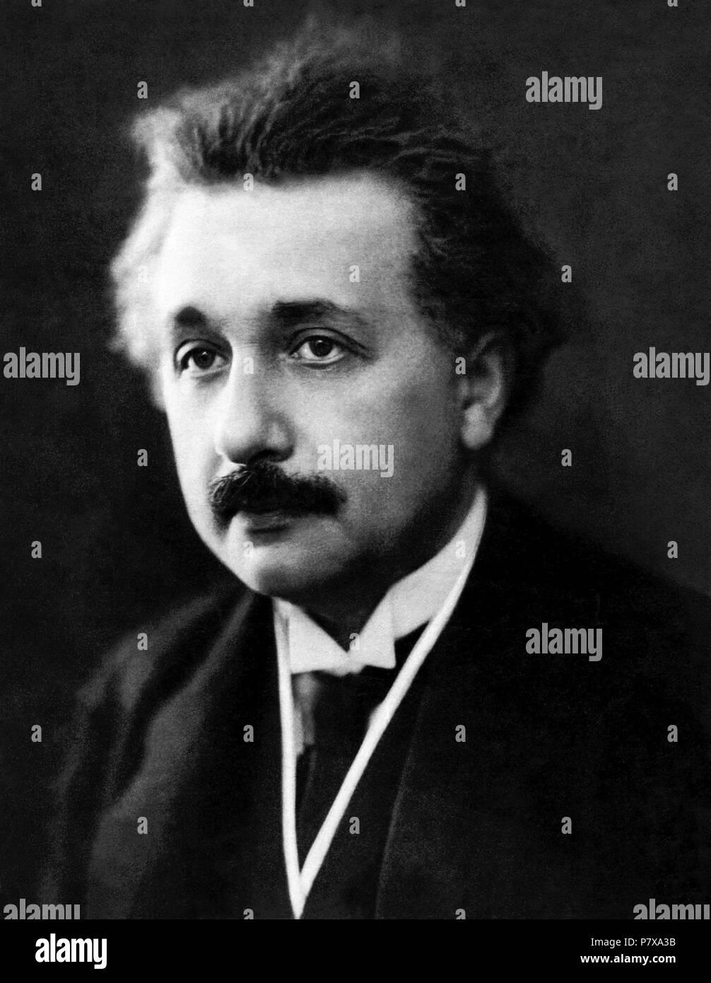 Albert Einstein Portrait von Henri Manuel (wahrscheinlich ab 30. März 1922 in Paris, Frankreich). Einstein erhielt den Nobelpreis für Physik im Jahr 1921. Stockfoto